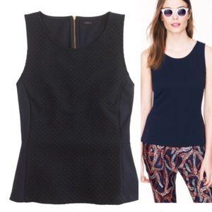J. CREW | Textured Peplum Knit Blouse Top